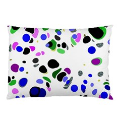 Colorful Random Blobs Background Pillow Case