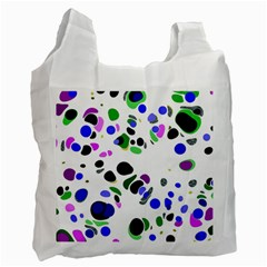 Colorful Random Blobs Background Recycle Bag (Two Side)
