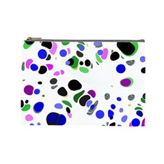 Colorful Random Blobs Background Cosmetic Bag (large)