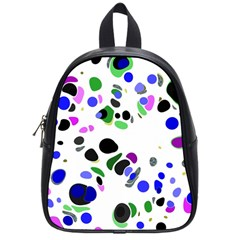 Colorful Random Blobs Background School Bags (Small)