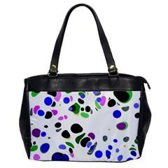 Colorful Random Blobs Background Office Handbags