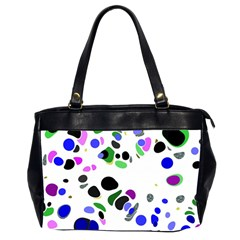 Colorful Random Blobs Background Office Handbags (2 Sides)