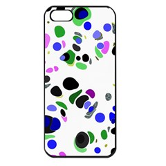 Colorful Random Blobs Background Apple Iphone 5 Seamless Case (black)
