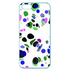 Colorful Random Blobs Background Apple Seamless iPhone 5 Case (Color)