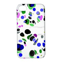 Colorful Random Blobs Background Apple Iphone 4/4s Hardshell Case With Stand
