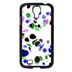 Colorful Random Blobs Background Samsung Galaxy S4 I9500/ I9505 Case (black)