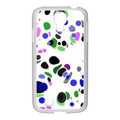Colorful Random Blobs Background Samsung Galaxy S4 I9500/ I9505 Case (white)