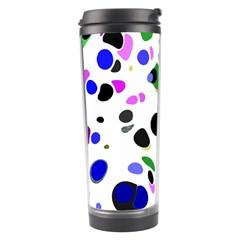 Colorful Random Blobs Background Travel Tumbler