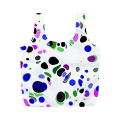 Colorful Random Blobs Background Full Print Recycle Bags (M)