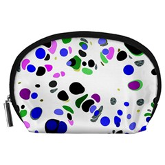 Colorful Random Blobs Background Accessory Pouches (large)