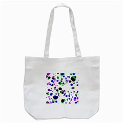 Colorful Random Blobs Background Tote Bag (White)