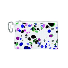 Colorful Random Blobs Background Canvas Cosmetic Bag (s)