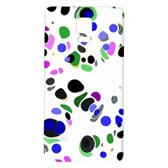 Colorful Random Blobs Background Galaxy Note 4 Back Case