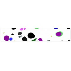 Colorful Random Blobs Background Flano Scarf (large)
