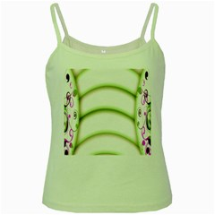 Abstract Background Green Spaghetti Tank