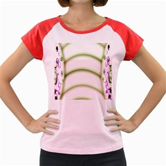 Abstract Background Women s Cap Sleeve T Shirt