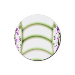 Abstract Background Rubber Round Coaster (4 Pack)