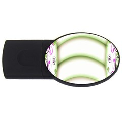 Abstract Background USB Flash Drive Oval (1 GB)