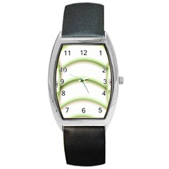 Abstract Background Barrel Style Metal Watch