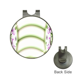 Abstract Background Hat Clips With Golf Markers