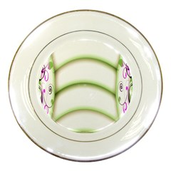 Abstract Background Porcelain Plates