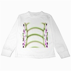 Abstract Background Kids Long Sleeve T Shirts