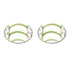Abstract Background Cufflinks (oval)