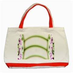 Abstract Background Classic Tote Bag (red)