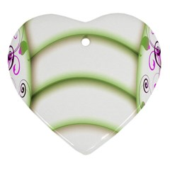 Abstract Background Heart Ornament (Two Sides)
