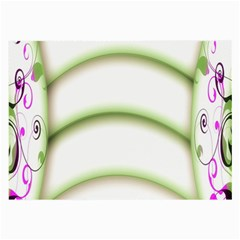 Abstract Background Large Glasses Cloth (2 Side)