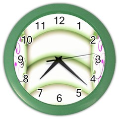 Abstract Background Color Wall Clocks