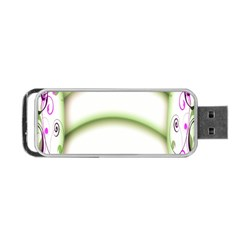 Abstract Background Portable USB Flash (Two Sides)