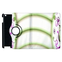 Abstract Background Apple iPad 2 Flip 360 Case