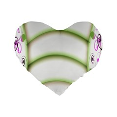 Abstract Background Standard 16  Premium Heart Shape Cushions