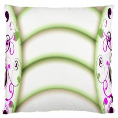 Abstract Background Large Flano Cushion Case (one Side)
