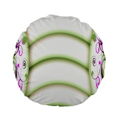Abstract Background Standard 15  Premium Flano Round Cushions