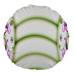 Abstract Background Large 18  Premium Flano Round Cushions