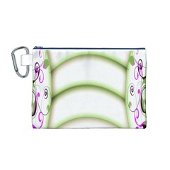 Abstract Background Canvas Cosmetic Bag (m)