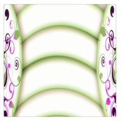 Abstract Background Large Satin Scarf (square)