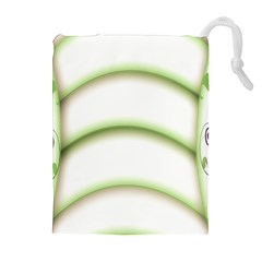 Abstract Background Drawstring Pouches (extra Large)