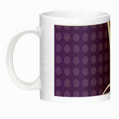Leaf Polka Dot Purple Orange Night Luminous Mugs