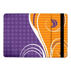 Leaf Polka Dot Purple Orange Samsung Galaxy Tab Pro 10 1  Flip Case
