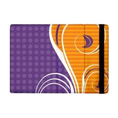 Leaf Polka Dot Purple Orange iPad Mini 2 Flip Cases