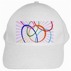 Abstract Background With Interlocking Oval Shapes White Cap
