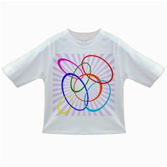 Abstract Background With Interlocking Oval Shapes Infant/toddler T Shirts