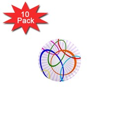 Abstract Background With Interlocking Oval Shapes 1  Mini Magnet (10 pack)