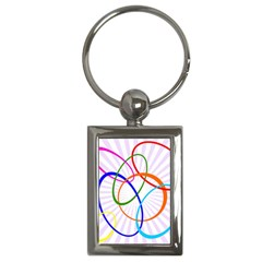 Abstract Background With Interlocking Oval Shapes Key Chains (Rectangle)