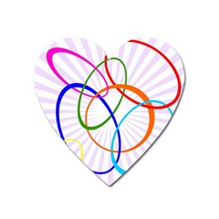 Abstract Background With Interlocking Oval Shapes Heart Magnet