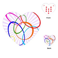 Abstract Background With Interlocking Oval Shapes Playing Cards (Heart)