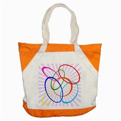 Abstract Background With Interlocking Oval Shapes Accent Tote Bag